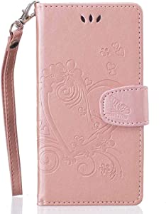 Huawei Lite 2015 2016 Case  Bear Village  Flip Leather Wallet Cover  Shockproof Case with Magnetic Closure and Card Slots Holder for Huawei Lite 2015 2016  Rose Gold