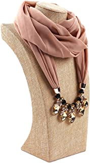 2019 new preferred pearl chiffon alloy jewelry necklace scarf female spring and autumn and winter fashion bib outdoor bib