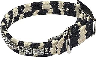 """Glamour Girl 2 row Collar, Zebra S 9-10 1/2"""""""