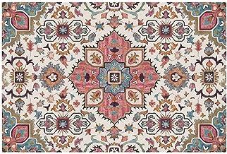 Shop Area Rugs Rectangular Bedroom Living Room Rug Polyester Indian Model Room Rug Bath Mat Washable Soft mat (Color : Mul...