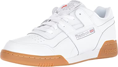 Reebok Men's Workout Plus Cross Trainer, White/Carbon/Classic red, 10.5 M US