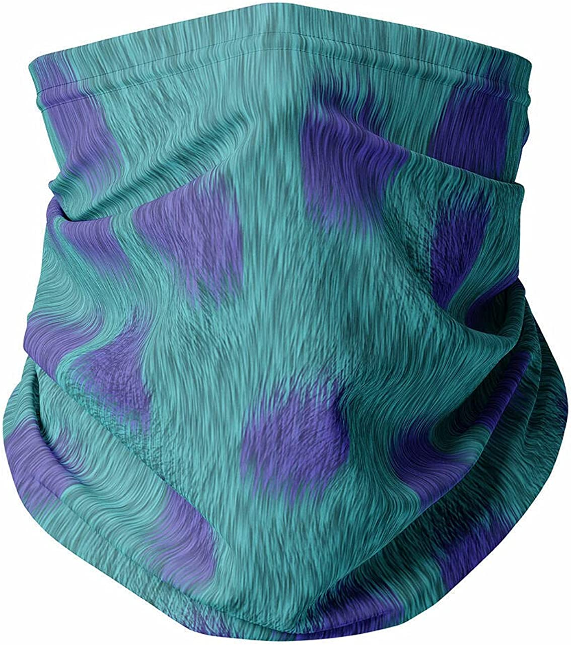 Neck Gaiter Face Covering - Sully Fur Monsters Inc Inspired