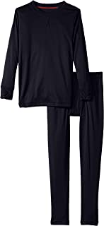 Cuddl Duds Big Boys' Climate Smart Essential Poly Two-Piece Thermal Set