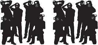 "Beistle Plastic Paparazzi Props, 63"", Black/White, 4 Piece"