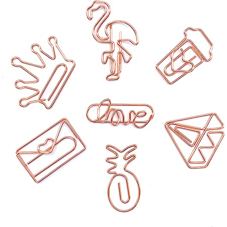 60pieces Assorted Plane Metal Paper Clips Crafts Bookmarks Office Stationery