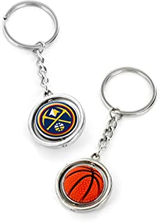 aminco NBA Denver Nuggets Rubber Basketball Spinning Keychain