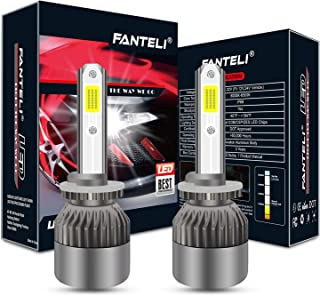 FANTELI Extremely Bright 880 893 899 LED Headlight Bulbs All-in-One Conversion Fog Driving Lights Foglights Kit - 72W 8000LM 6000K Xenon HID Cool White 881 885 890 892 Replacement -5 Years Warranty