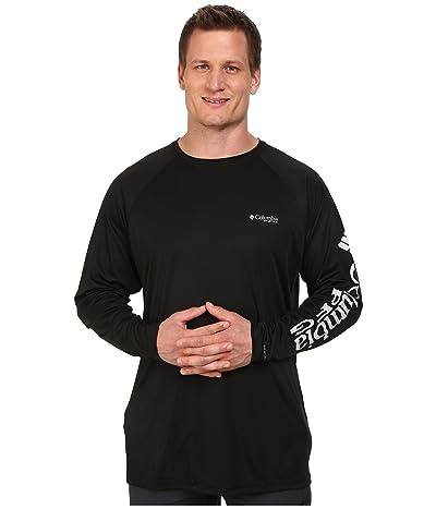 Columbia Big Tall Terminal Tackletm L/S Shirt (Black/Cool Grey Logo) Men