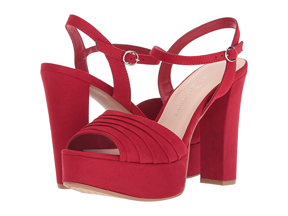 Chinese Laundry Allie (Lollipop Red Microsuede) High Heels