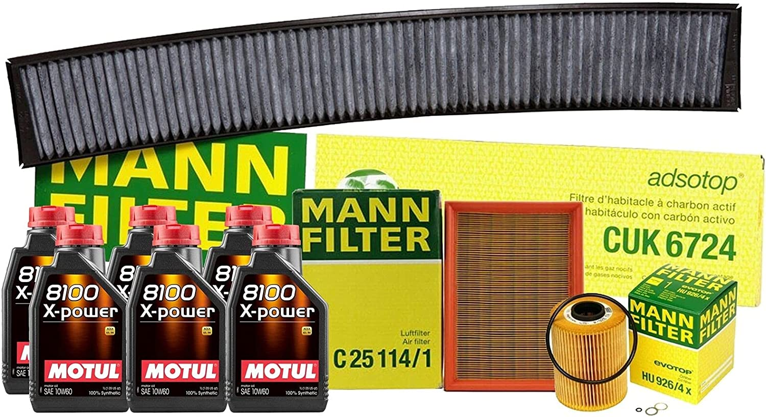 6L 8100 X-POWER 10W60 Oil Filter Service Philadelphia Mall BMW with Ranking TOP9 kit Compatible