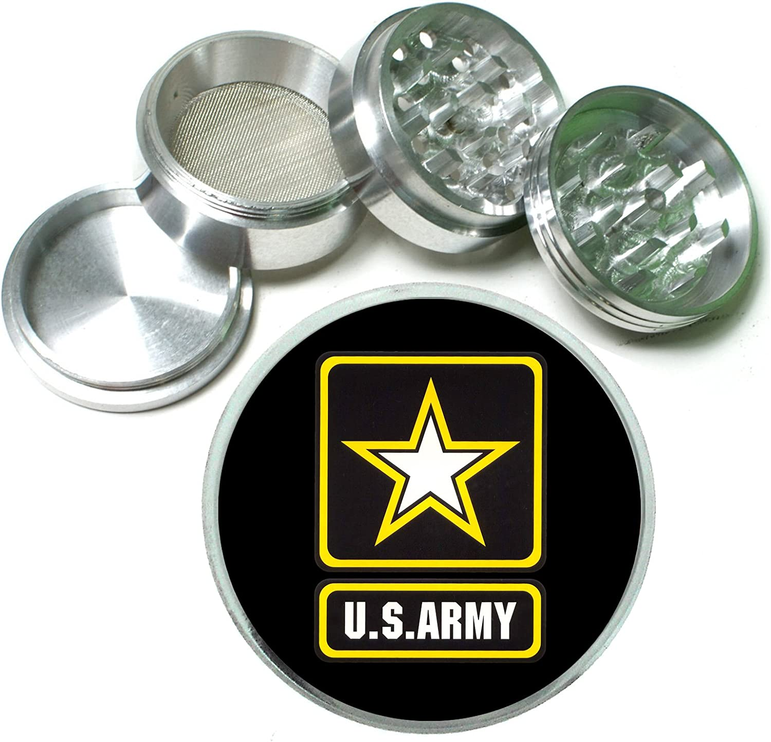 Army US Soldier Hero 4 Free shipping on posting reviews Pc. San Francisco Mall Grinder Spice Aluminum Tobacco Herb