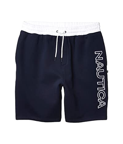 Nautica Big & Tall Big Tall Fleece Logo Short (Blue) Men