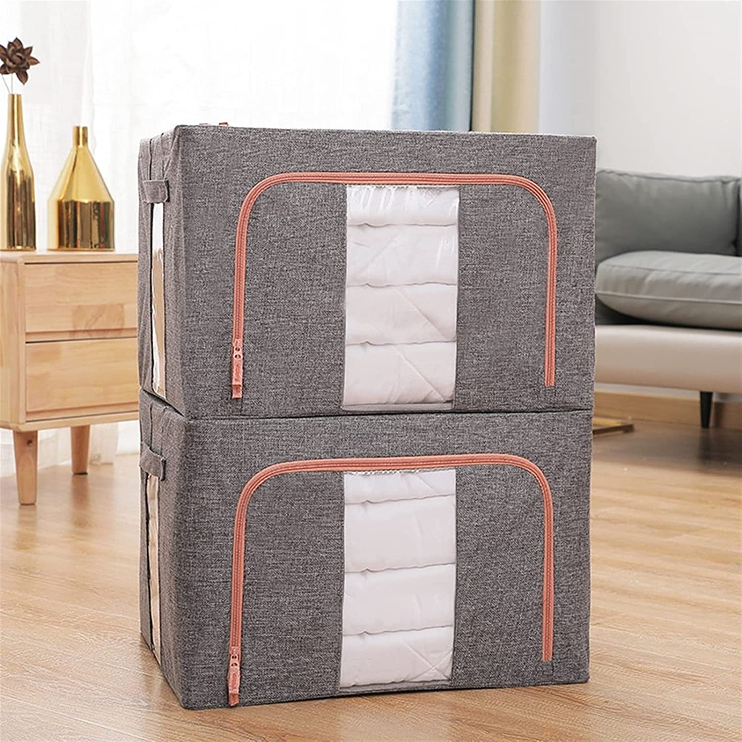 DaFei Ranking TOP11 New product! New type Large Foldable Clothing Storage 2PCS St Bags 100L Clothes