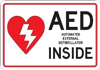 StickerTalk AED Inside Vinyl Sticker, 10 inches by 7 inches