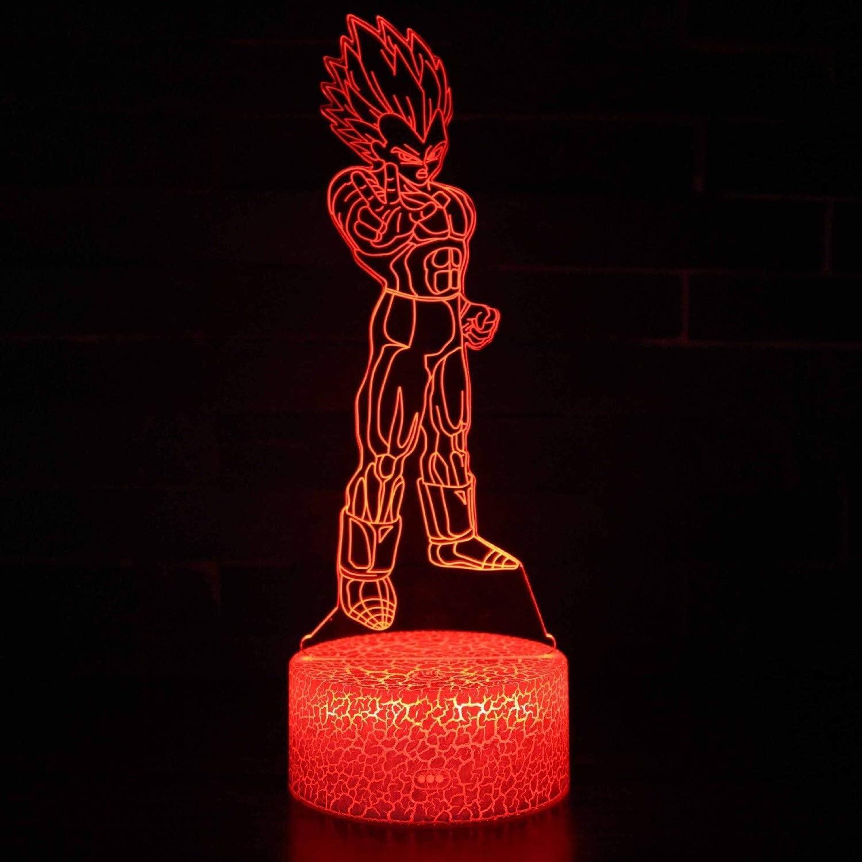WJXBoos 3D Veilleuses Enfants Illusion d'optique Lampe de Chevet de Nuit Jouets 16 Couleurs avec télécommande et Smart Touch Chambre Décoration Jouets Idée Cadeaux (Couleur: C) 4