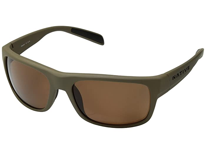 Native Eyewear Ashdown (Desert Tan/Brown Polarized Lens) Sport Sunglasses