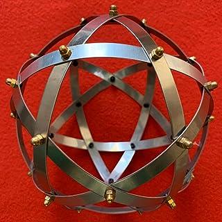 Genesa Pentasfera Acciaio Inox da 16 cm di diametro, con fasce larghe 10mm fissate con rivetti in rame.