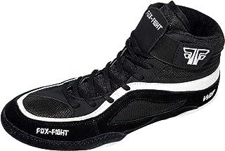 FOX-FIGHT W8 Ringer - Zapatillas de lucha libre, de ante profesional, alta calidad