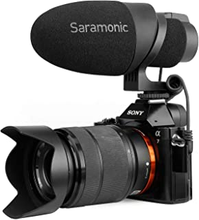 Shotgun Mic, Saramonic CamMic Lightweight Video Microphone,Directional Microphone for Sony,Smartphones, Canon EOS,Nikon DSLR Cameras and Camcorders, Designed for Travel, Interview, YouTube