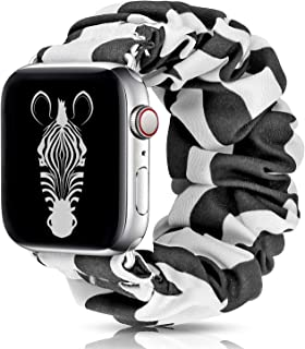 LBYZCAS Scrunchie Elastic Band Compatible for Apple Watch 42MM 44MM,Cute and Soft Cloth Elastic Wristband Replacement Strap Compatible for iWatch Series 5/4/3/2/1 for Girls Womens