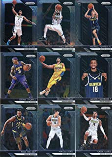 2018-19 Panini Prizm Basketball Denver Nuggets Team Set of 9 Cards with rookies: Michael Porter Jr. ROOKIE (#32), Jarred Vanderbilt(#42), Isaiah Thomas(#52), Jamal Murray(#62), Gary Harris(#72), Paul Millsap(#82), Nikola Jokic(#92), Will Barton(#102), Trey Lyles(#112)