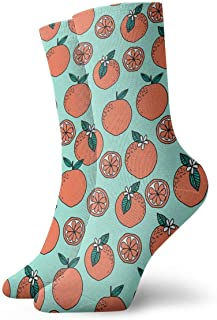 Luxury Calcetines de Deporte Florida Oranges Pattern Unisex Socks, All-Season Lightweight Ankle Socks Crew Socks