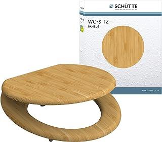 SCHÜTTE WC-Sitz BAMBUS, massiver Toilettendeckel aus nachhaltigem Rohstoff (Bambus),..