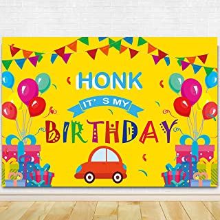 Honk It's My Birthday Party Photography Backdrop - Colorful It's My Birthday Quarantine Bday Party Background Cake Table O...