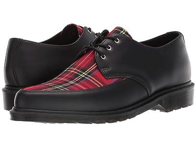 Dr. Martens Willis Tartan (Black/Red Stewart Smooth/Tartan Fabric) Shoes
