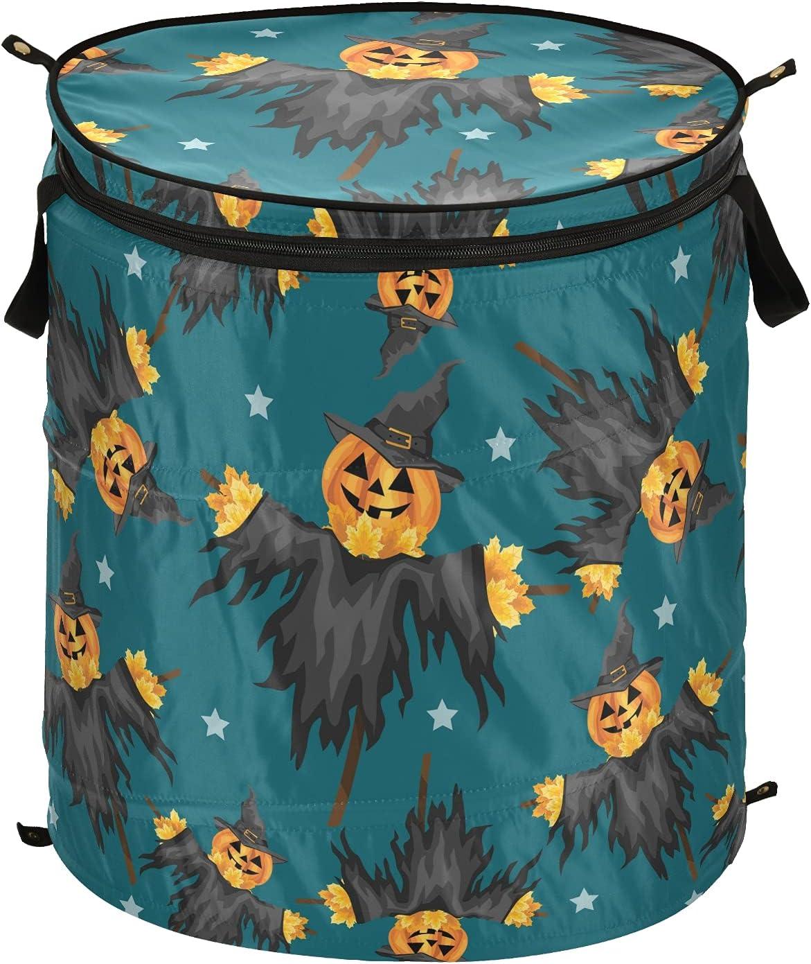 Halloween Jack Lantern Arlington Mall Pumpkin Pop Up Lid Fo Max 56% OFF with Hamper Laundry