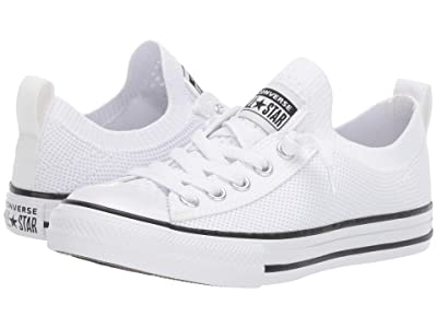 Converse Kids Chuck Taylor(r) All-Star(r) Shoreline Knit (Little Kid/Big Kid) (White/Black/White) Girls Shoes
