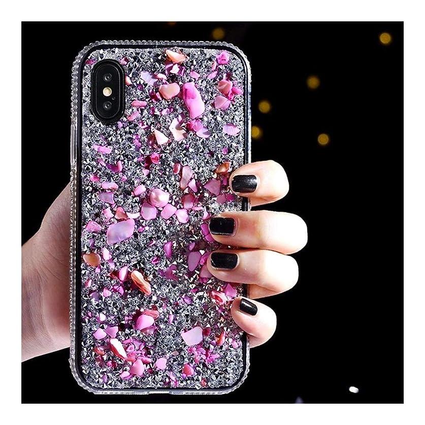 奇跡ハイキングに行く退屈DingFaS スマホケース for Iphone 11/XS/X/XS/8/7/6 かわいい 携帯ケース 軽量 保護ケース カバー ダイヤモンド スマートホンケース (Color : ピンク, Size : Iphone6p/6Splus)