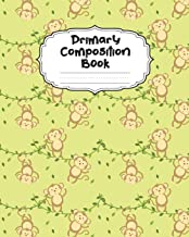 Monkey Primary Composition Book: With Picture Space: Draw Top Lines Bottom | Large Jungle Monkey Primary Composition Notebook Grades K-2 Story Journal ... Story Paper Journal School Exercise Book