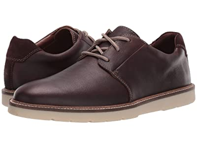 Clarks Grandin Plain (Dark Brown Tumbled Leather) Men