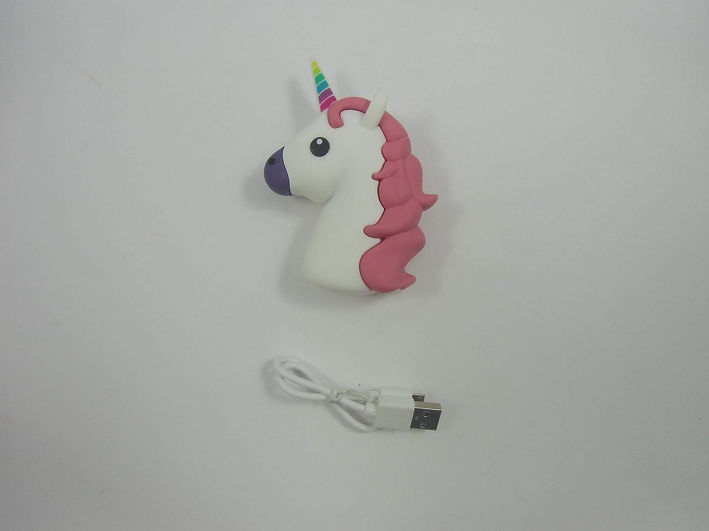 WoloShop Bater/ía Cargador PVC 2600mAh Emoji Smartphone Powerbank Unicornio