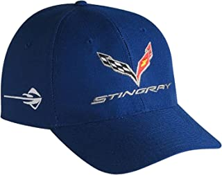Gregs Automotive Corvette C7 Stingray Hat Blue Made in USA - Bundle with Driving Style Decal