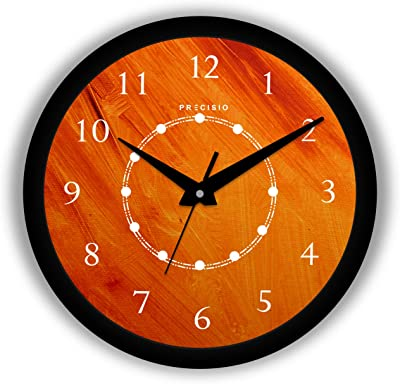 E Deals Printed Wall Clock 12 Inches Round Shaped Designer Wall Clock with Glass for Home/Living Room/Bedroom/Kitchen/Office (Silent Movement, Black Frame) | Big PWC-180