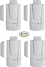 Instapark IN03C Home Security Window Door Magnetic Sensor Alarm, 4-Pack