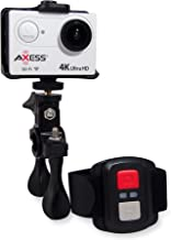 AXESS CS3610 4K Full HD Wide Angle Lens Sports and Action Video Camera with Waterproof Housing, Accessories, Remote and Built-in WiFi (White)
