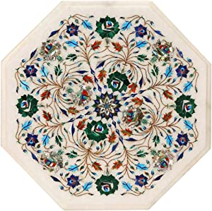 Marble Floral Table Top 9470