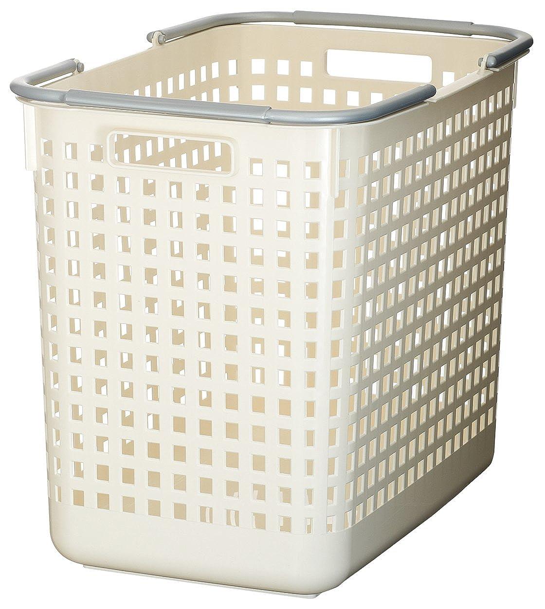 トラフ驚いたよく話されるlike-it バスケット ランドリー L スカンジナビアスタイル ホワイト 幅31x奥47.5x高39.3cm SCB-5