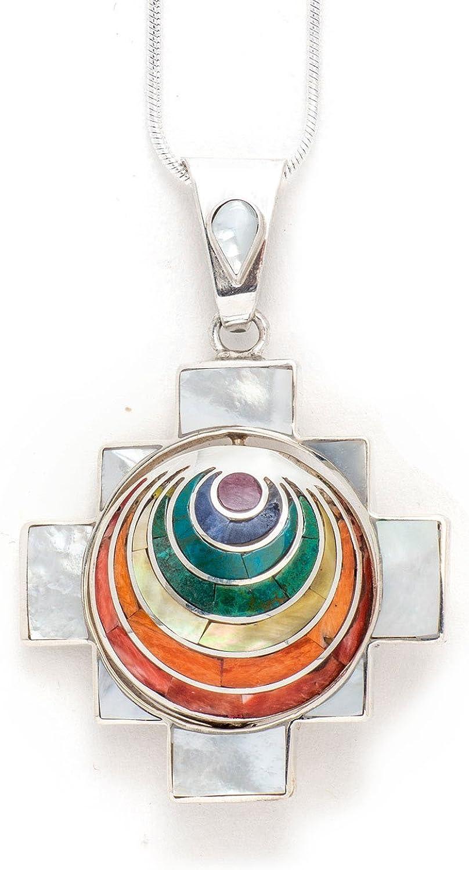 950 Sterling Silver Four Directions Totem Max 73% OFF Chakana Peruvian Free shipping New Penda