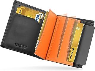 DODENSHA Portefeuille Homme Cuir Porte Carte Bancaire Anti Piratage Grand Portefeuilles Homme Blocage RFID avec 6 Porte Ca...