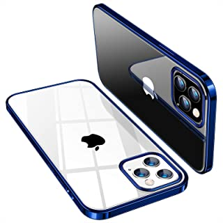 TORRAS Crystal Clear Compatible with iPhone 12 Case (2020) / Designed for iPhone 12 Pro Case 6.1 Inch 5G 2020, Navy Blue