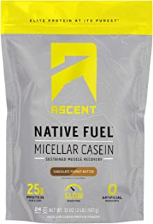 Sponsored Ad - Ascent Native Fuel Micellar Casein Protein Powder - 2 Lbs - Chocolate Peanut Butter