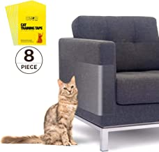 """Kohree 8pcs Anti Scratching Tapes, Clear Double Sided Furniture Protector Anti Cat Scratch Deterrent Tape Pad No Scratch Pet Training Tape for Couch, Doors and Furniture, 17"""" L x 12"""" W"""