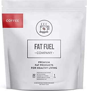 The Fat Fuel Company Organic Instant Keto Coffee with MCT Oil, Coconut Oil, Grass-Fed Butter Powder, & Redmond Real Salt L...