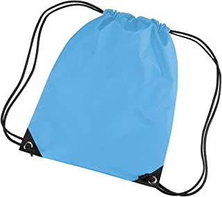 Bagbase Premium Gymsac Water Resistant Bag (11 Litres) (UK Size: One Size) (Surf Blue)