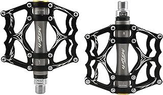 【Jpfashioning】クロスバイクペダル 両面踏み 超軽量 アルミ合金 フラットペダル 3ベアリング 滑り止め釘 耐久性よい MTB ロードバイク2個セット