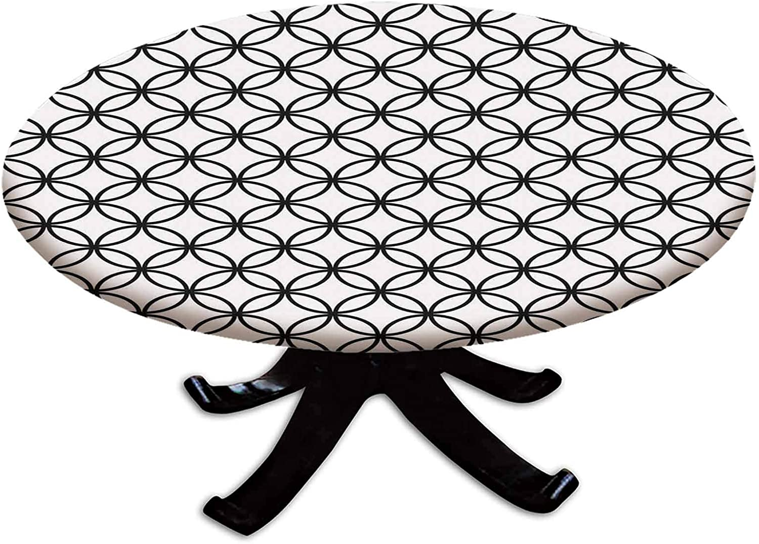 Elastic Edged Polyester メーカー公式 お買得 Fitted Cover Monochrome Table Minimalist